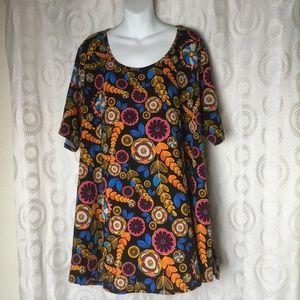 LuLaRoe Women's Plus Size Perfect Tee Shirt Floral